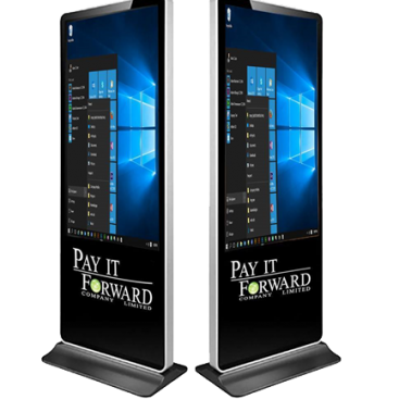 Kiosk advertising digital signage