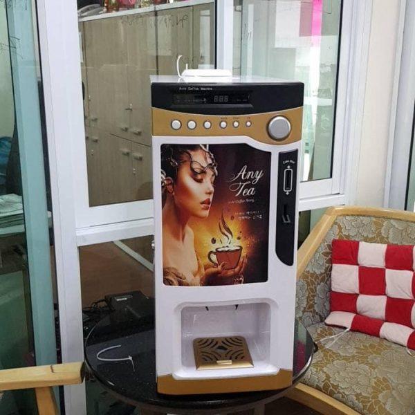 เครื่องขายกาแฟร้อน แบบหยอดเหรียญ Vending Coffee HOT ตู้ขายเครื่องดื่มร้อนหยอดเหรียญ
